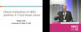 欧洲乳腺癌大会(EBCC)讲课内容荟萃早期HER2阳性乳腺癌病理生物学临床意义